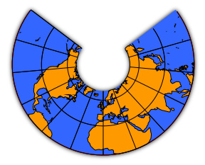 conic projection A map projection is used to portray all or part of the round earth on a flat surface this cannot be done without some distortion every projection has its own set of.